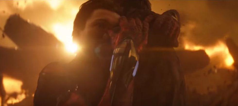 "Abrazo de Tony Stark y Peter Parker en ""Avengers: Infinity War"". (Foto: Marvel Studios)"