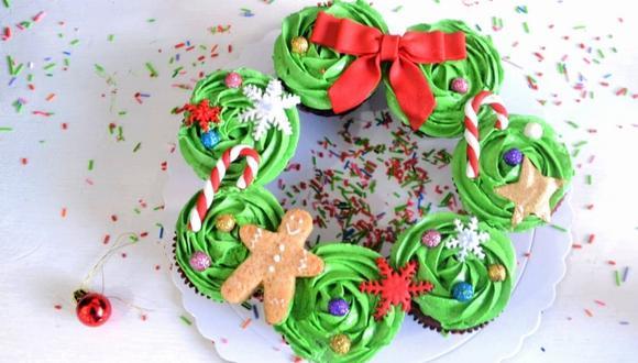 Corona de cupcakes. (Foto: Samantha Aguilar)