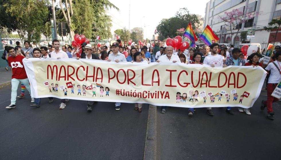 Marcha por la igualdad comenzó en el Parque Washington. (Mario Zapata/Perú21)
