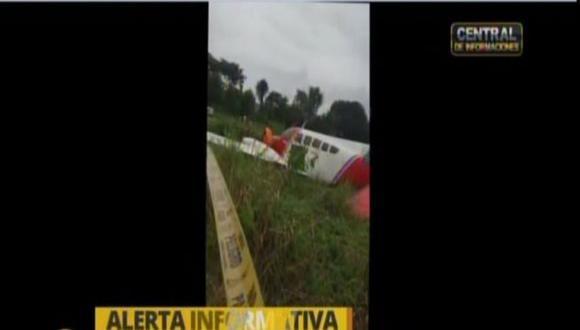 Yurimaguas: Avioneta se estrella al aterrizar. (RPP)