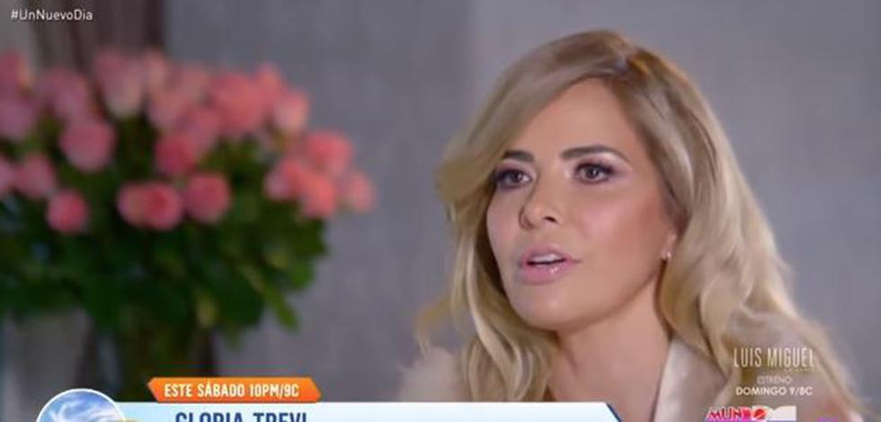 Gloria Trevi llorosa al recordar muerte de su hija Ana Dalay, que concibió con su ex pareja Sergio Andrade. (Captura/Telemundo)