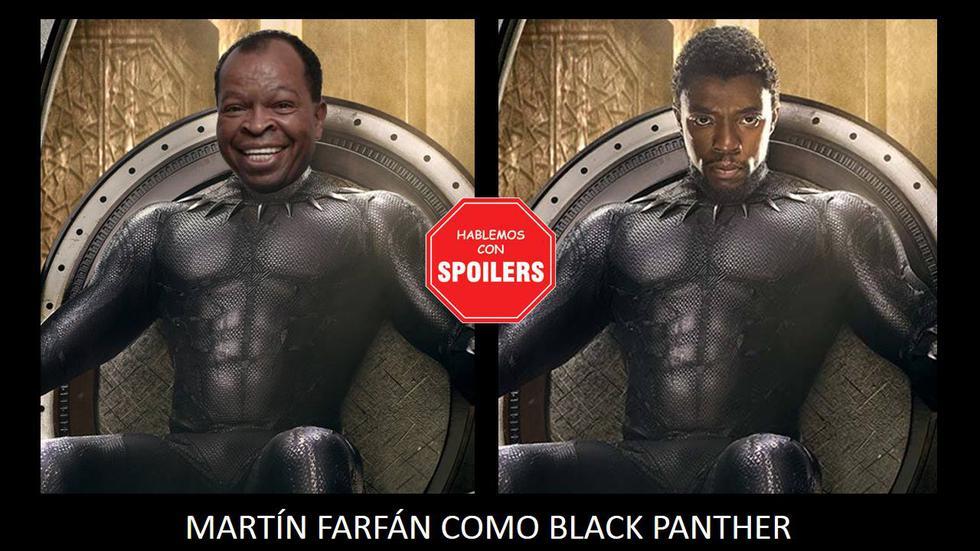 Martín Farfán como 'Pantera Negra'. (Facebook 'Hablemos con spoilers')