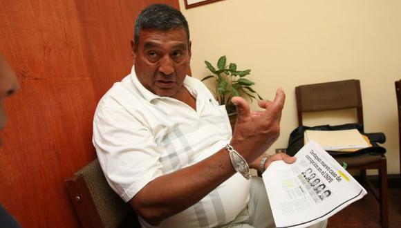 Decepcionado. Gustavo Quispe asegura que es inocente. (Luis Gonzáles)