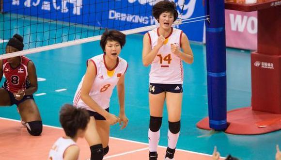 China logró remontar un complicado partido. (FIVB)