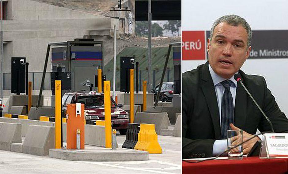 El primer ministro, Salvador del Solar, se pronunció sobre la revisión de los contratos de concesión de los peajes de Lima. (Fotos: GEC)
