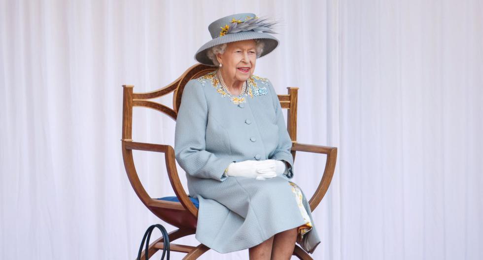La reina Isabel de Gran Bretaña asiste a una ceremonia que marca su cumpleaños oficial en el Cuadrángulo del Castillo de Windsor en Windsor, Gran Bretaña, el 12 de junio de 2021. (Chris Jackson/REUTERS).