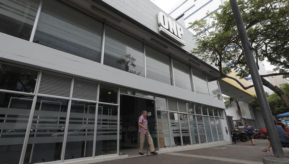 La Oficina de Normalización Previsional (ONP). (Foto: César Campos | GEC)