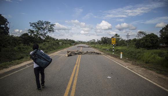Carretera Interoceánica se mantiene bloqueada desde ayer. (Foto referencial: GEC)
