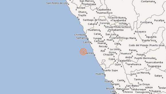 Sismo tuvo una profundidad de 77 kilómetros. (IGP)