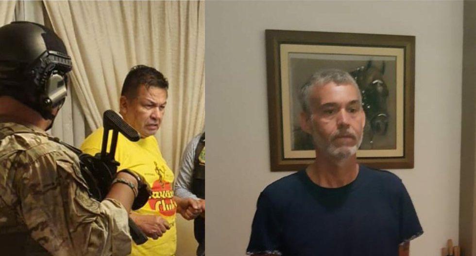 Exalcalde del Callao, Juan Sotomayor, y excongresista Víctor Albrecht, fueron arrestados esta madrugada. (MININTER)