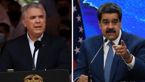Nicolás Maduro señaló que interpondrán una demanda contra el mandatario colombiano Iván Duque por supuesta xenofobia. (Foto: Juan Barreto / Federico Parra / AFP)