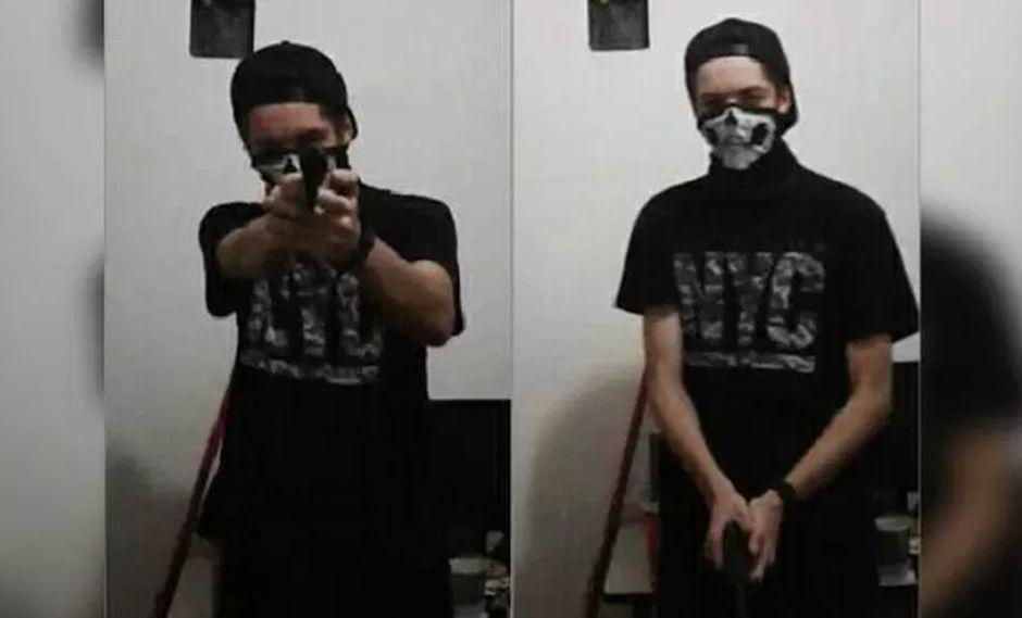 Días antes del ataque a la escuela de un suburbio de Sao Paulo, uno de los agresores subió fotos a Facebook mostrando armas. (Foto: Facebook)