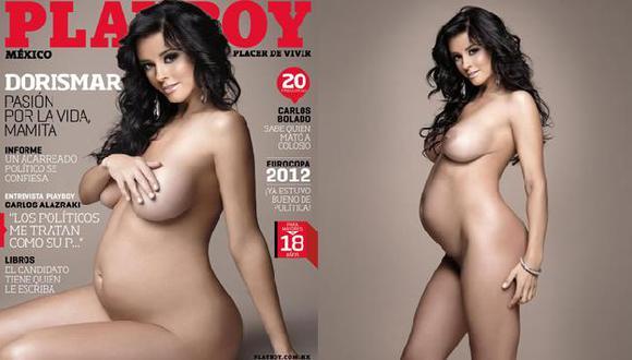 La aplauden y critican por posar con seis meses de gestación. (Playboy México)