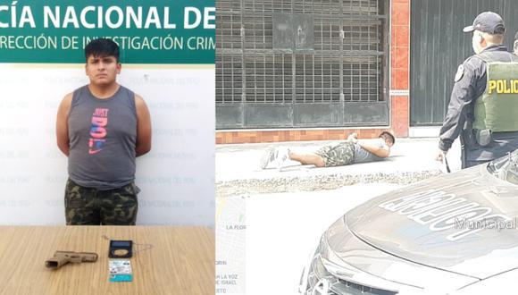 Efectivos incautaron una pistola y su carné de la PNP. (Foto: GEC)