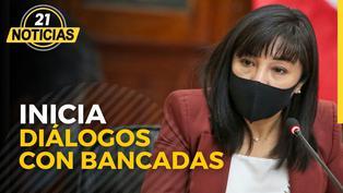 Arranca el diálogo entre Mirtha Vásquez y las bancadas