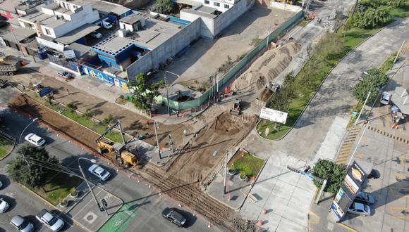 La comuna espera terminar trabajos en la avenida Del Parque Norte en un lapso de 30 días. Foto: Municipalidad de San Isidro