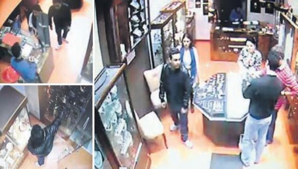 EN BANDA. Cámaras de videovigilancia captaron, minuto a minuto, este nuevo robo en Miraflores. (Fotos Difusión)