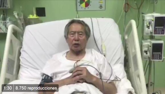 Alberto Fujimori fue internado en una clínica local la tarde del sábado 23 de diciembre.