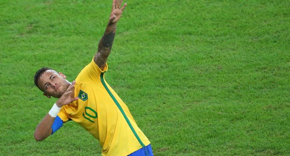 Neymar celebró a lo Usain Bolt y así reaccionó el atleta jamaiquino. (Reuters)