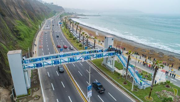 Infraestructura contó con una inversión de más de S/3 millones y brindará un acceso adecuado a los más de 149 mil visitantes del circuito de playas de la Costa Verde. (Foto: Municipalidad de Lima)