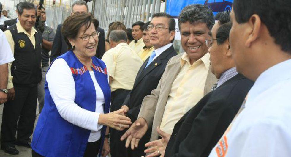 Villarán se reunió con choferes. (Martín Pauca)