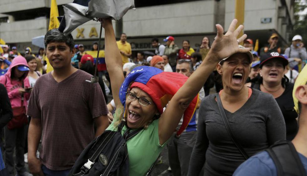 Protestas contra el gobierno de Nicolás Maduro. (AP)