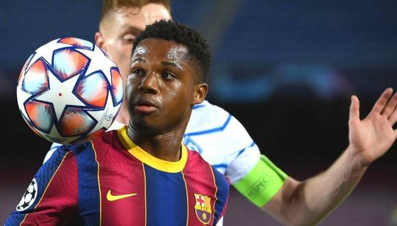 Ansu Fati y el sueño que quiere cumplir con la camiseta de Barcelona. (Foto: AFP)