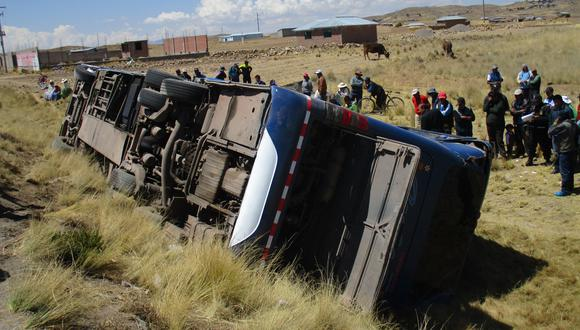 Bus Volcado (Foto: Referencial /GEC)
