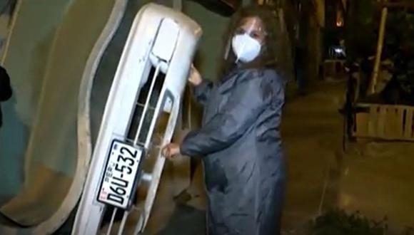 La mujer agraviada contó que el auto era utilizado para trabajar de forma independiente en medio de la pandemia del COVID-19. (Captura: América Noticias)