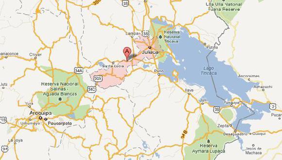 El hecho ocurrió en el centro poblado de Jarán. (Google Maps)