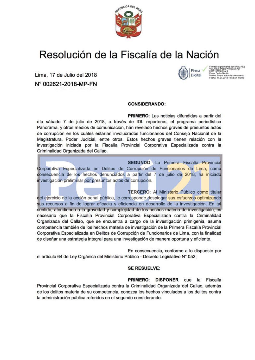 Resolución fiscal