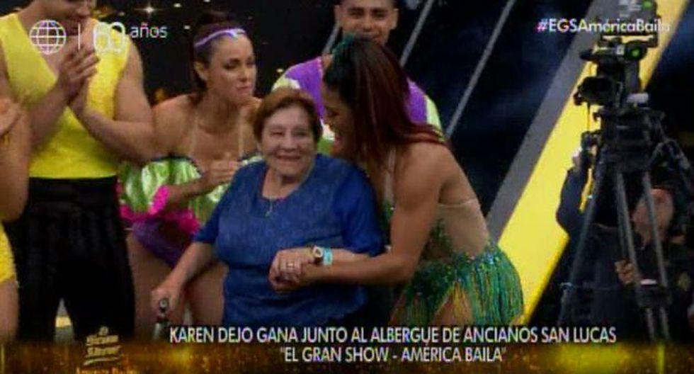 """El gran show"": Karen Dejo es la ganadora del programa. (Foto: Captura de pantalla)"