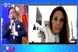 Rebeca Escribens llama la atención a Ricardo Rondón en vivo