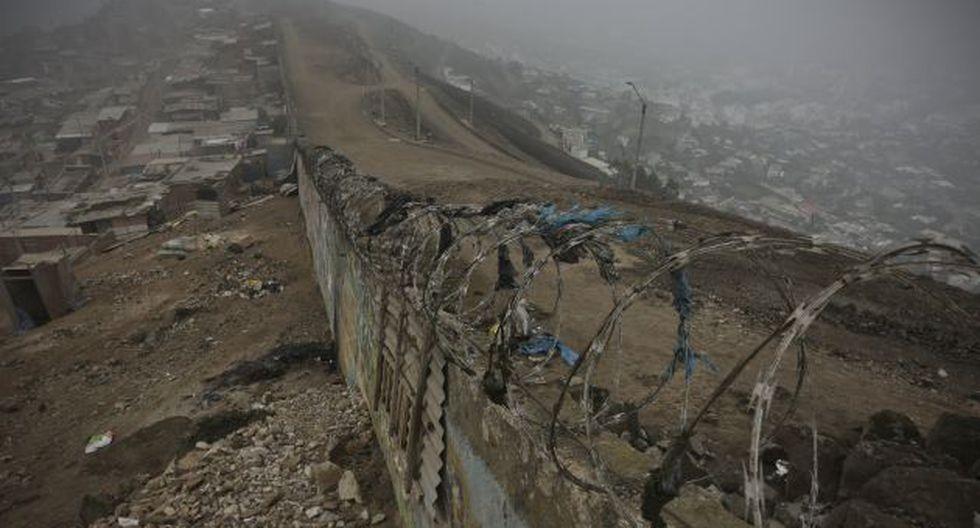 El muro en cuestión fue construido en el 2011 por la comuna de La Molina. (Perú21)