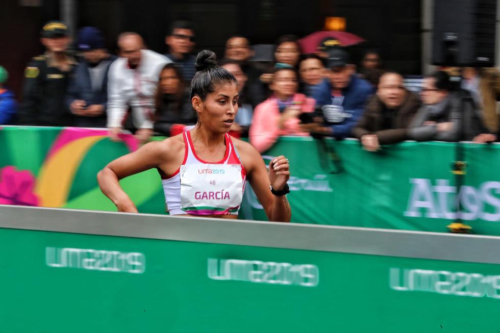 Kimberly García ganó medalla de plata para Perú en marcha atlética por los Juegos Panamericanos. (Francisco Neyra)