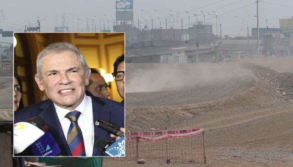 """Castañeda señaló que la Municipalidad de Lima """"tiene las ganas de terminar las obras pendientes"""", pero existen diversos aspectos legales que dificultan ello.(Archivo El Comercio)"""