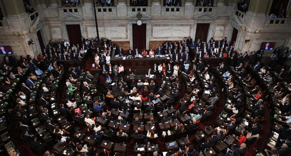 En esta imagen difundida por el Senado argentino, el Congreso inaugura el 138° período de sesiones ordinarias en Buenos Aires, Argentina, el 1 de marzo de 2020. (Juan Carlos CARDENAS / ARGENTINA'S SENATE / AFP).