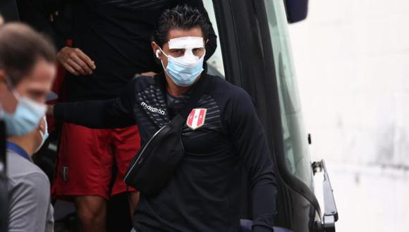 Gianluca Lapadula cuidará su nariz con una máscara protectora. (Foto: Jesús Saucedo / GEC)