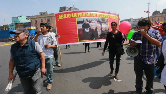 El Movadef busca la liberación del genocida Abimael Guzmán (Lino Chipana / El Comercio)