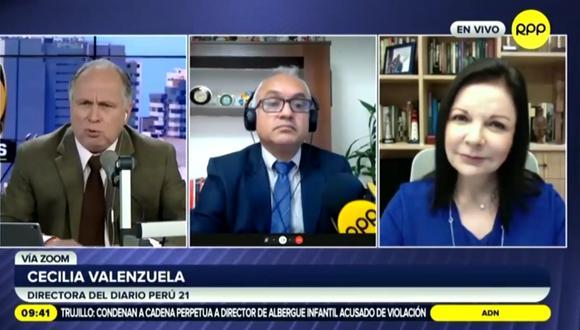 Cecilia Valenzuela, en diálogo con RPP, se refirió a las declaraciones del fiscal Omar Tello. (RPP Noticias)
