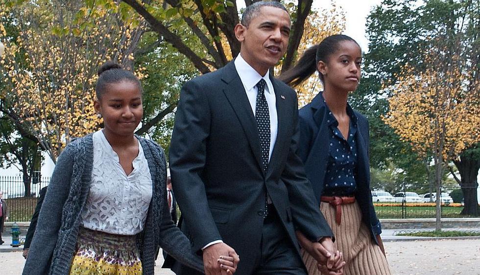 Sasha y Malia, hijas del presidente estadounidense Barack Obama. (AFP)