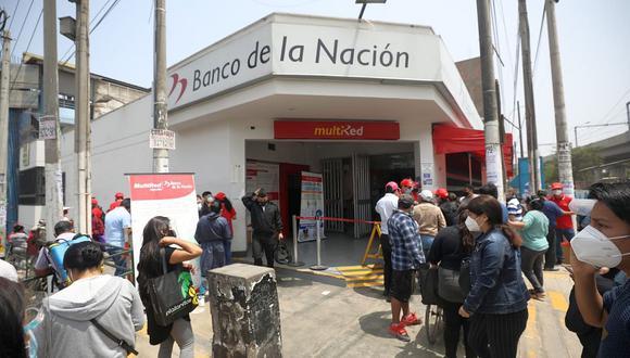 Hay un mejor comportamiento de beneficiarios del bono de 760 soles en agencias del Banco de la Nación, según funcionaria de la entidad financiera. (Foto: GEC)