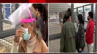 Adultos mayores de 70 años hacen largas colas para recibir vacunas pese a la reprogramación del Minsa