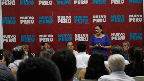 Nuevo Perú está participando en las elecciones en alianza con Juntos por el Perú porque no logró inscribirse a tiempo. (Foto referencial: Nuevo Perú)