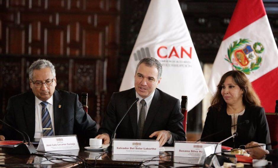 La CAN se encuentra conformada por los titulares del Poder Judicial, la Presidencia del Consejo de Ministros, el Parlamento, el Ministerio de Justicia y Derechos Humanos, el Tribunal Constitucional, y la fiscalía. (Foto: PCM)