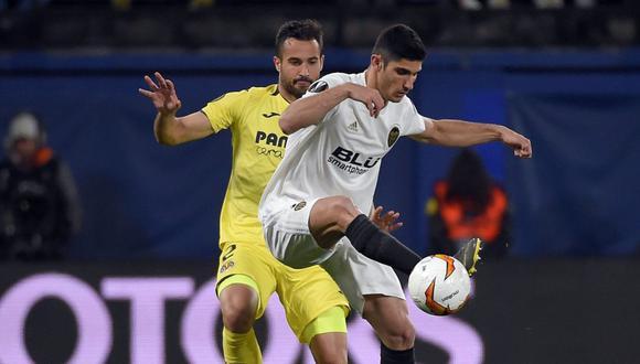Valencia vs. Villarreal se miden por los cuartos de final de la Europa League. (Foto: AFP)