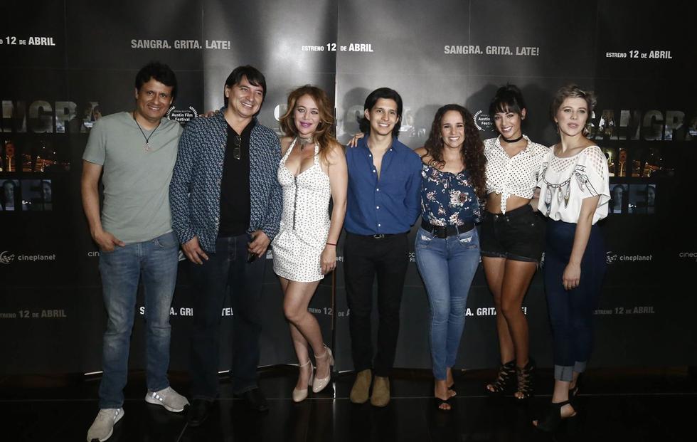 El elenco de la película 'Sangra, grita, late' presentó el teaser oficial de la cinta. (Créditos: Renzo Salazar)