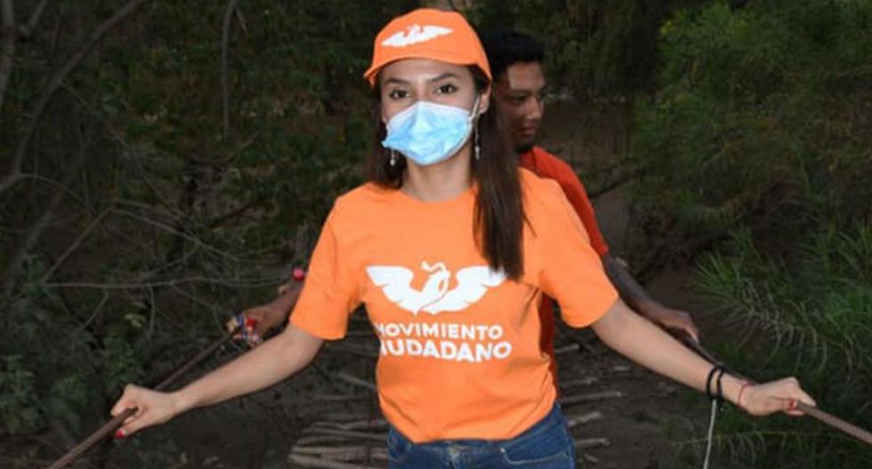 """Marilú Martínez Núñez, quien se define como una """"joven entusiasta"""" había cerrado su campaña el 30 de mayo con un evento en una zona conocida como La Curva de Cutzamala. (Captura/Facebook)."""