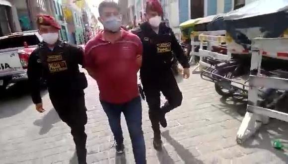 Presunto sicario fue detenido por agentes del Escuadrón de Emergencia.