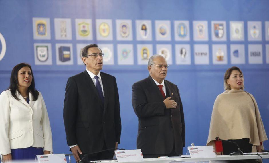 Vizcarra inauguó el Primer UNI Ejecutivo que congrega a rectores de universidades de todo el país. (Foto: Presidencia)